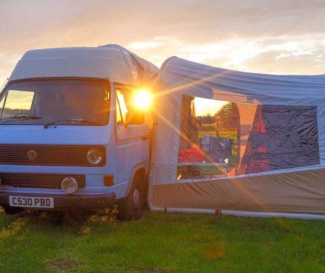 camping at evergreen farm