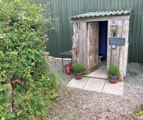 the loo at evergreen farm